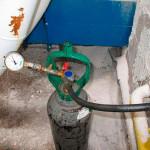 Teste hidrostático em tubulação de gás